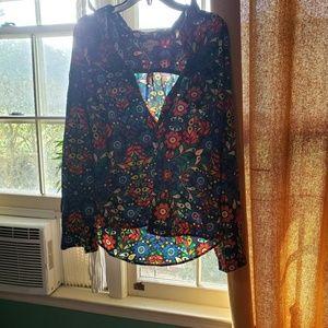 Floral hippy shirt xl
